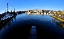 A general view of the Harbourside, Bristol. Photo by Dan Regan 19/01/2016